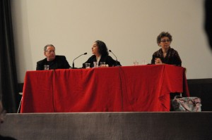 Conférence, Pierre Bongiovanni (cinéaste plasticien), Jane Cobbi (ethnologue), Sylvie Dallet (Institut Charles Cros)