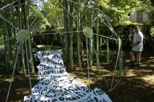 Installation Pascal Masson (square de la Liberté et de l'alliance) les Arts ForeZtiers 2013