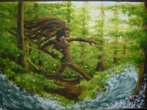 Course à travers la forêt en compagnie d'une rivière de Romain Lemaitre