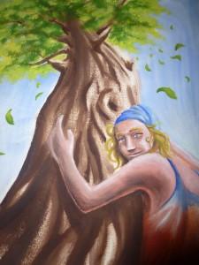La femme sous l'arbre