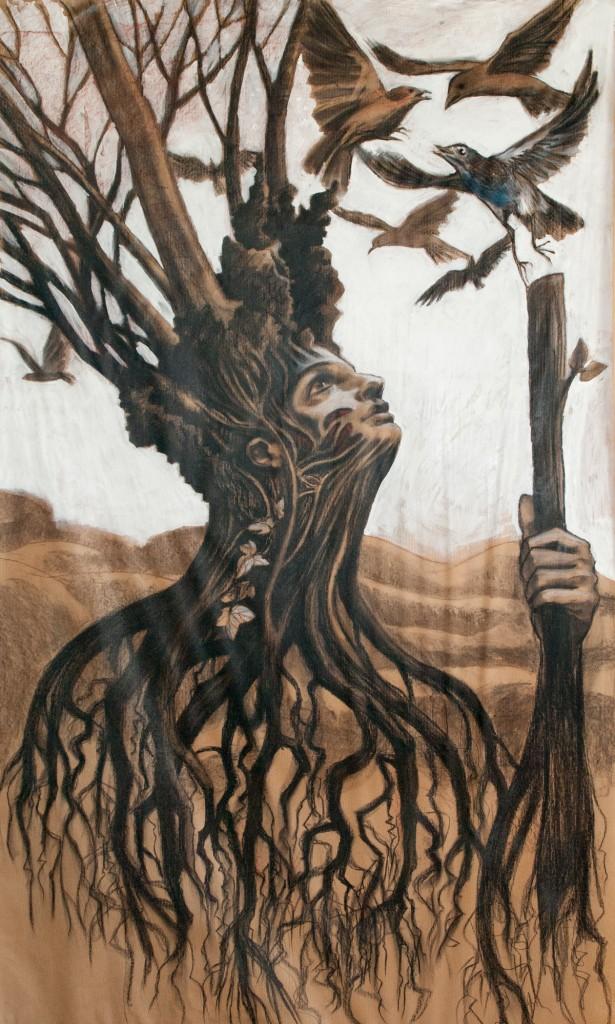 L'esprit arbre (dessin sur papier-Vero Bene)